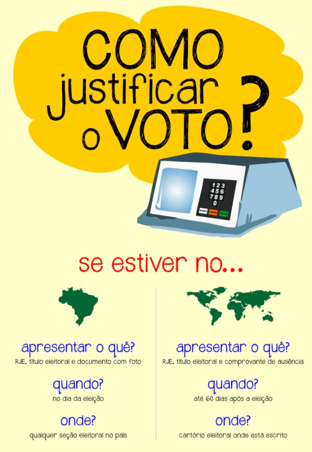 Como justificar o voto, eleições 2012, como justificar voto no exterior, justificativa de voto