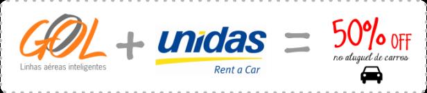 Parceria Gol e Unidas, Desconto no aluguel de carros, Locadora de veículos Brasil