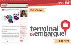 Aniversário de 1 ano Blog Terminal de Embarque