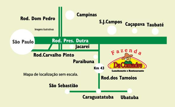 Fazenda da Comadre - Mapa