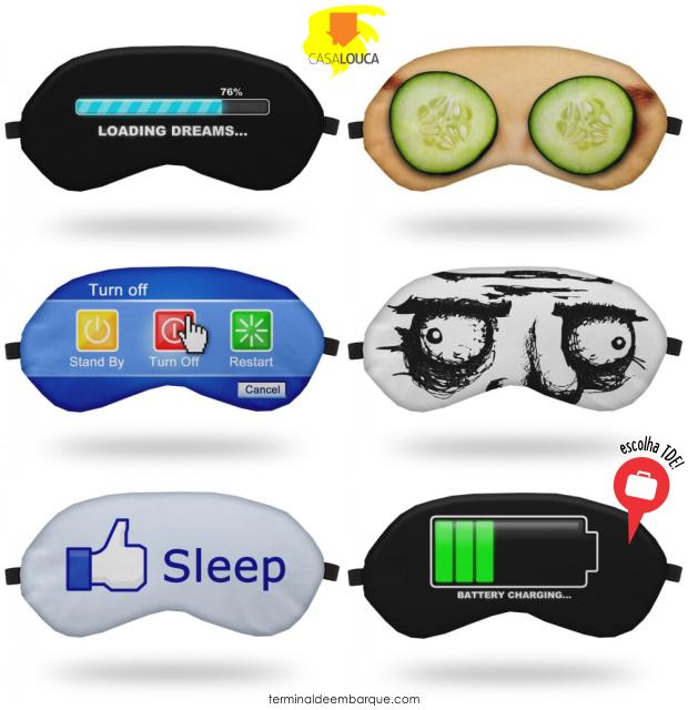 Máscaras de Dormir Casa Louca