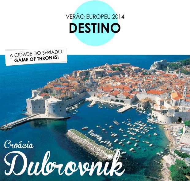 Verão Europeu 2014 destino