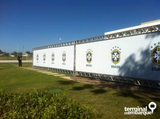 Ala isolada para circulação da seleção brasileira