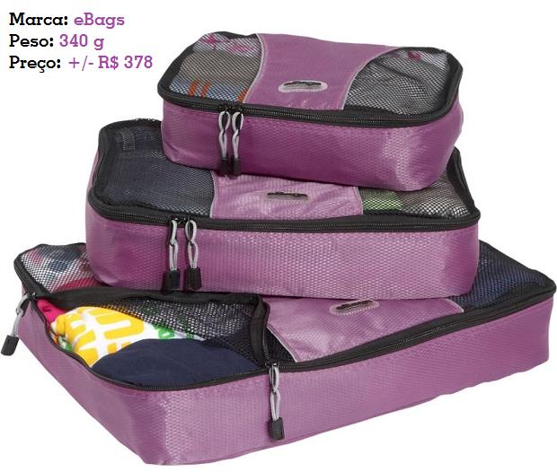 Cubos organizadores de bagagem eBags