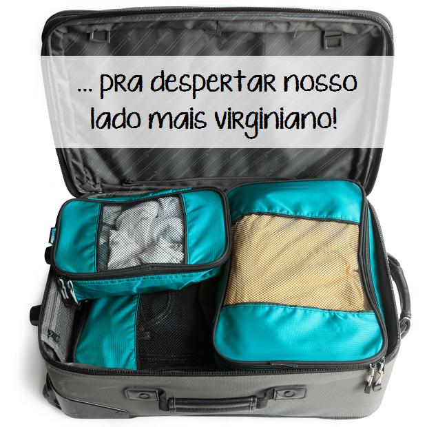 Cubos organizadores de bagagem