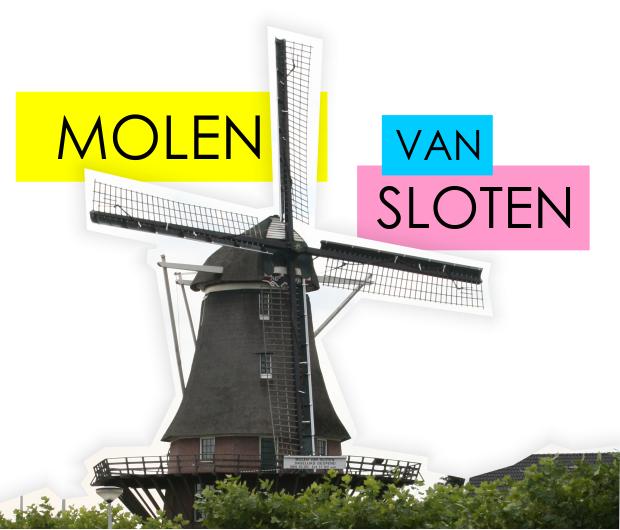Moinho de vento Amsterdã
