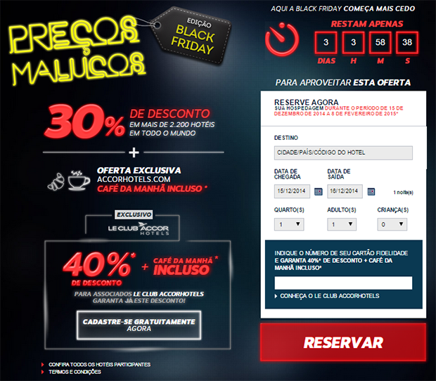 Black Friday 2014 Accor Hotéis