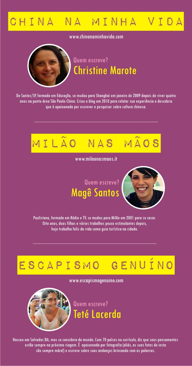 Blogueiras brasileiras.