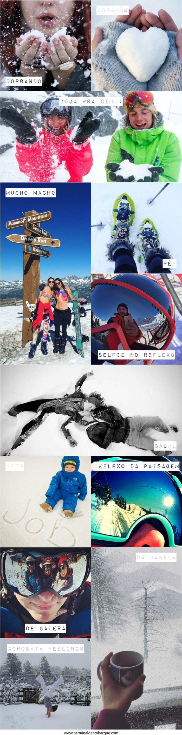 Ideias fotos neve