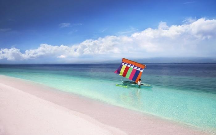 Praia de Areia Rosa - Pink Sand Beach, Great Santa Cruz Island, Filipinas | Foto: Getty Images