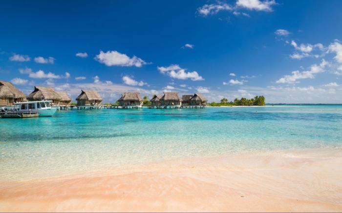 Praia de Areia Rosa - Tikehau, Polinésia Francesa | Foto: Getty Images