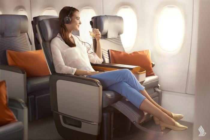 Classe Econômica Premium Singapore Airlines