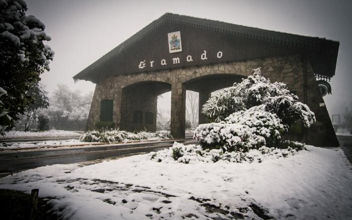 Neve no Brasil - Gramado (Foto Cleiton Thiele)