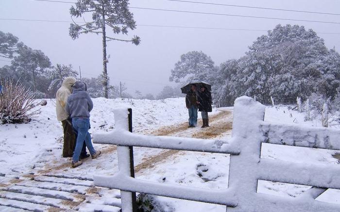 Neve no Brasil - Urubici (Foto Somar Meteorologia)